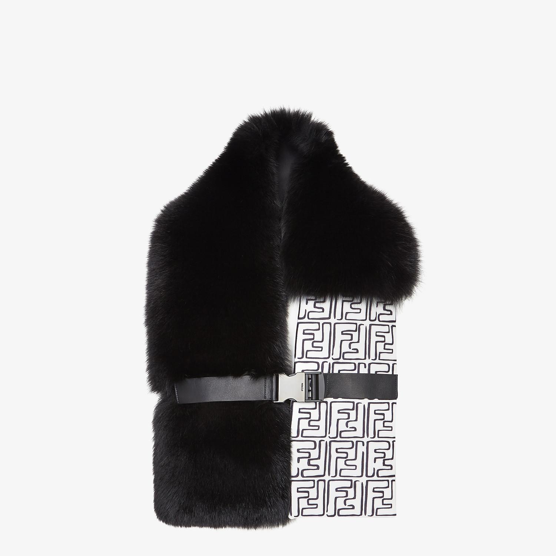 FENDI COLLAR - Black fox fur collar - view 2 detail