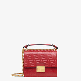 FENDI KAN I SMALL - Red leather mini-bag - view 1 thumbnail
