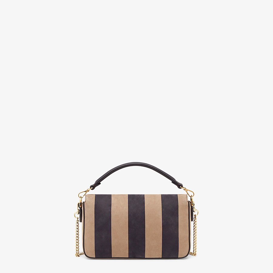 FENDI BAGUETTE - Brown nubuck leather bag - view 3 detail