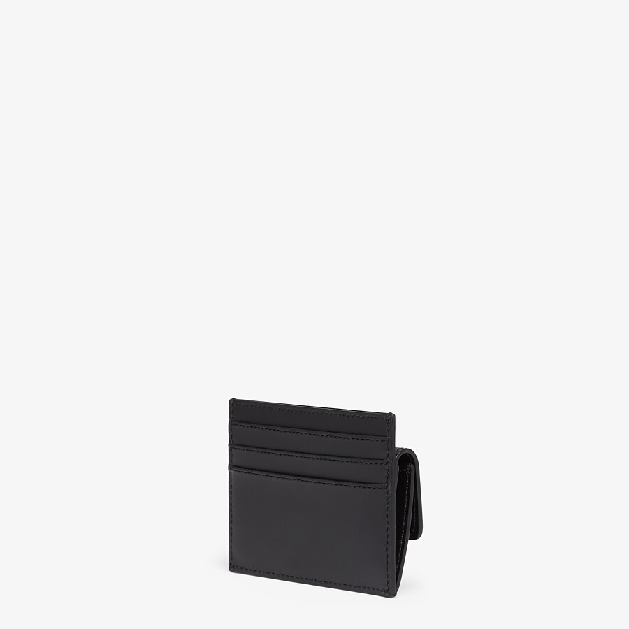 FENDI CARD HOLDER - Black leather cardholder - view 2 detail