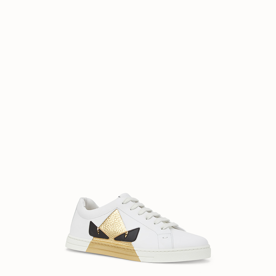 FENDI SNEAKERS - White leather sneakers - view 2 detail