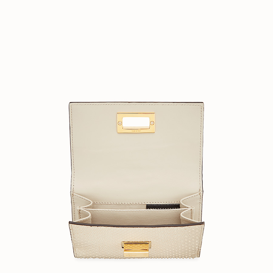 FENDI CONTINENTAL MEDIUM - White python wallet - view 4 detail