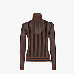 FENDI PULLOVER - Multicolour silk jumper - view 1 thumbnail
