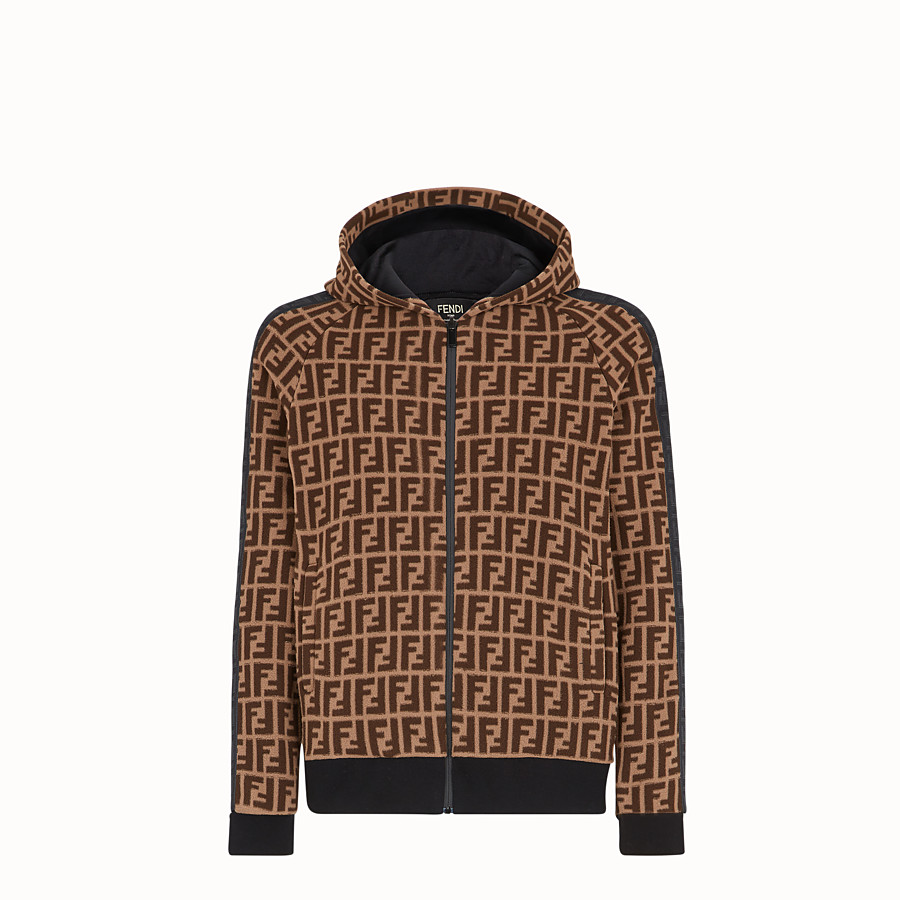 FENDI SWEATSHIRT - Brown fabric sweatshirt - view 1 detail
