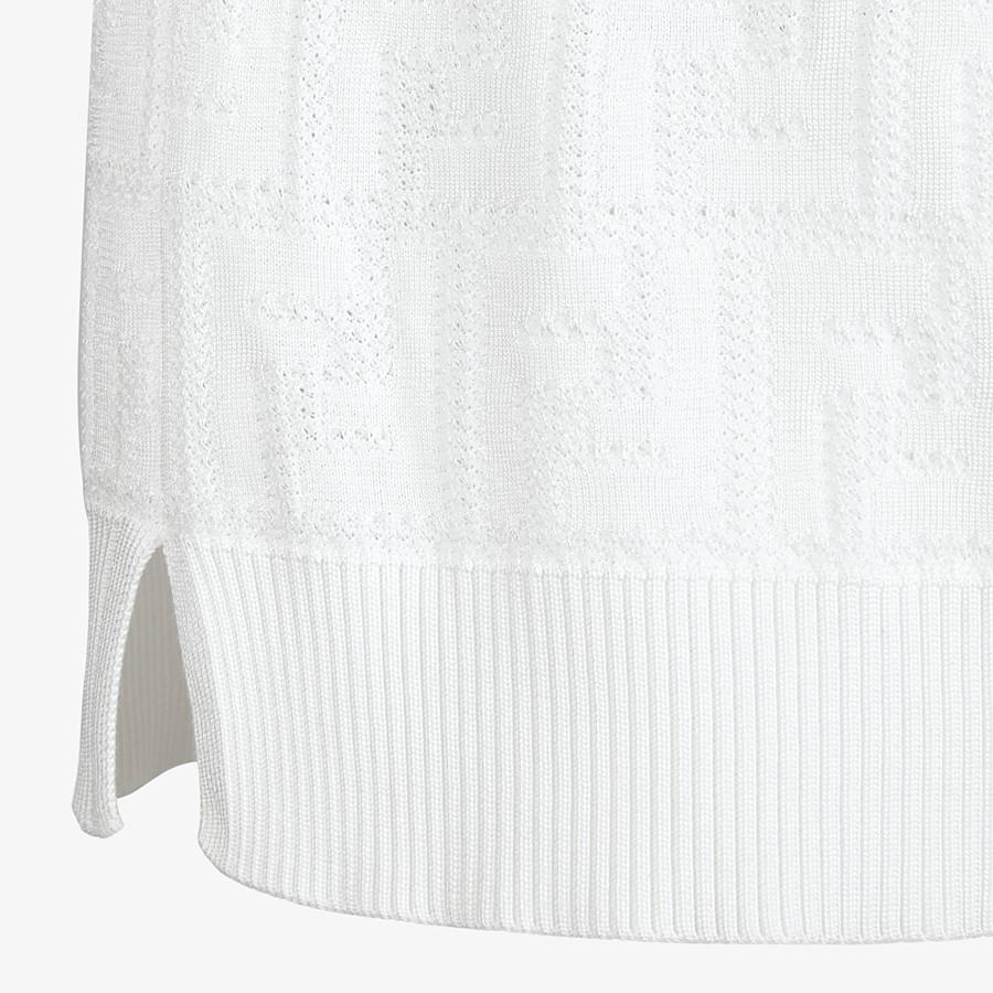 FENDI JUMPER - White viscose and cotton jumper - view 3 detail