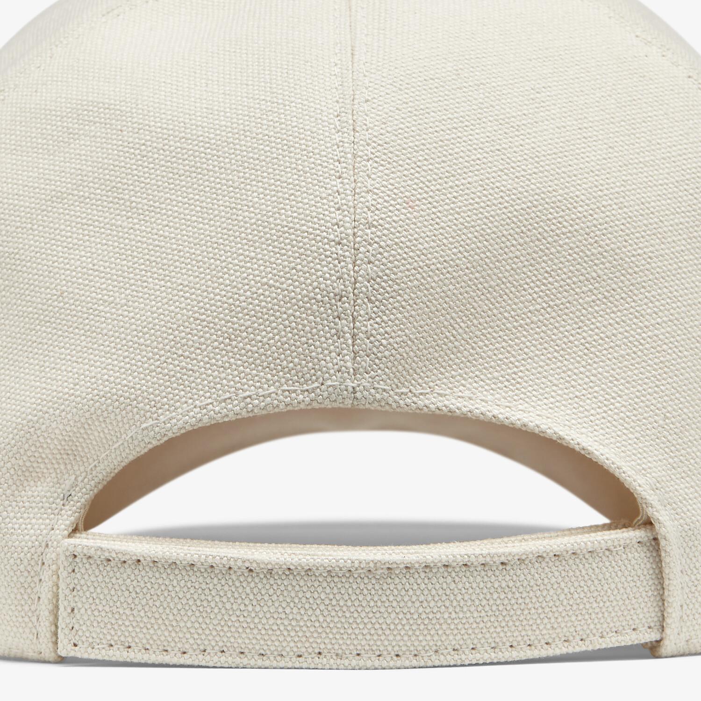 FENDI HAT - Undyed canvas baseball cap - view 2 detail