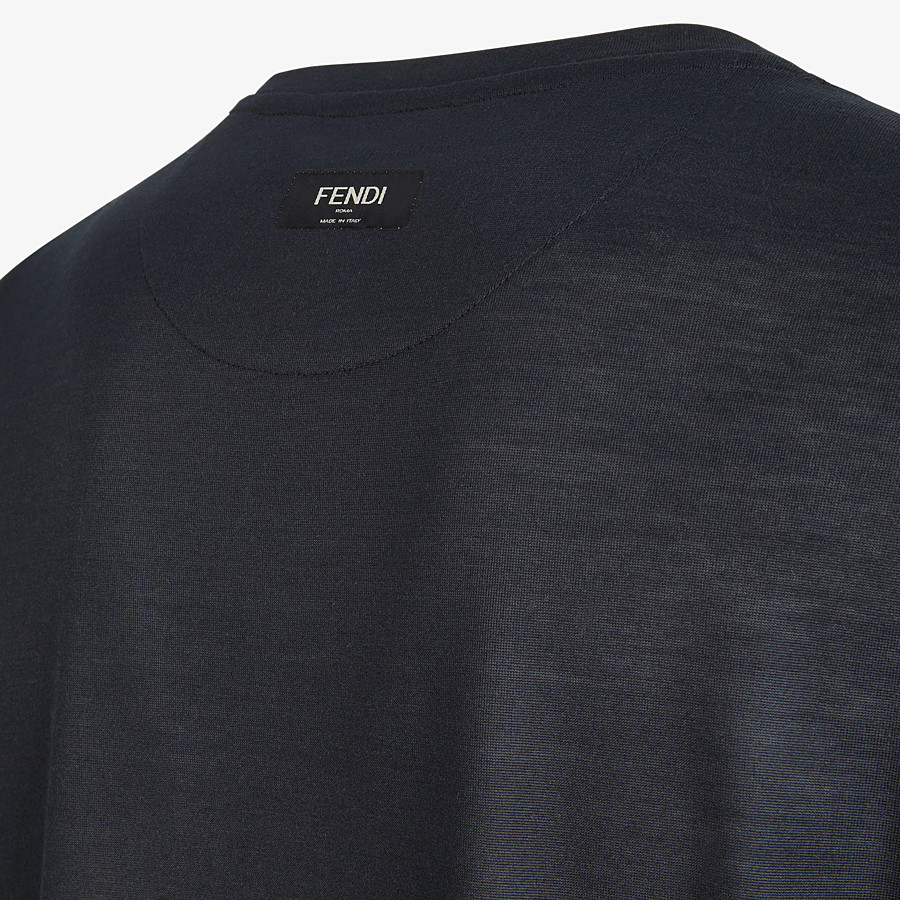FENDI T-SHIRT - Black silk T-shirt - view 3 detail