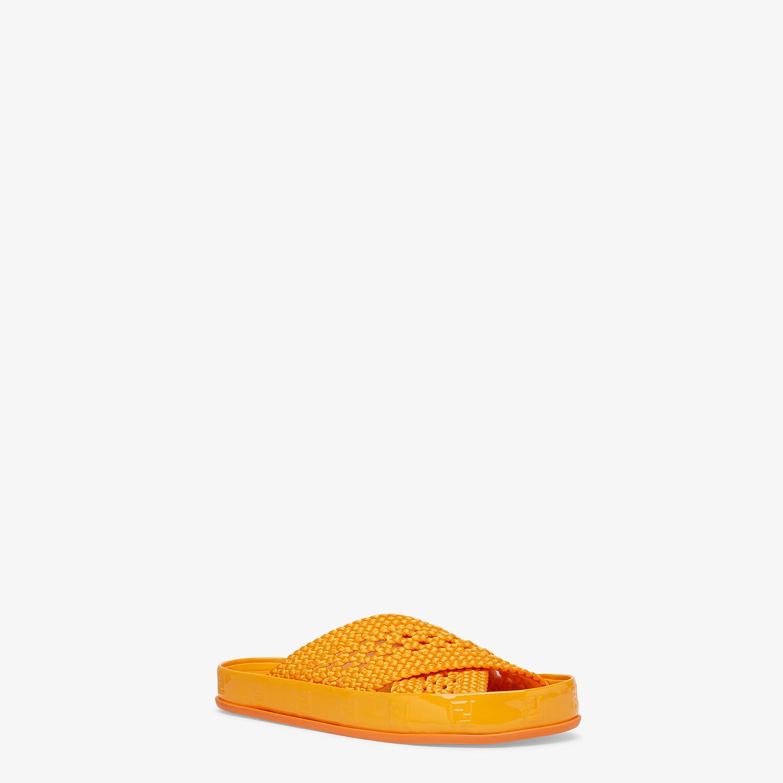 FENDI FENDI REFLECTIONS SLIDES - Orange stretch lace flats - view 2 detail