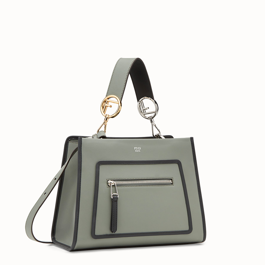 FENDI RUNAWAY SMALL - Green leather bag - view 2 detail