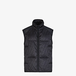 FENDI VEST - Black nylon vest - view 1 thumbnail