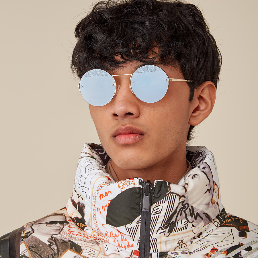 FENDI FF - Ruthenium sunglasses - view 4 detail