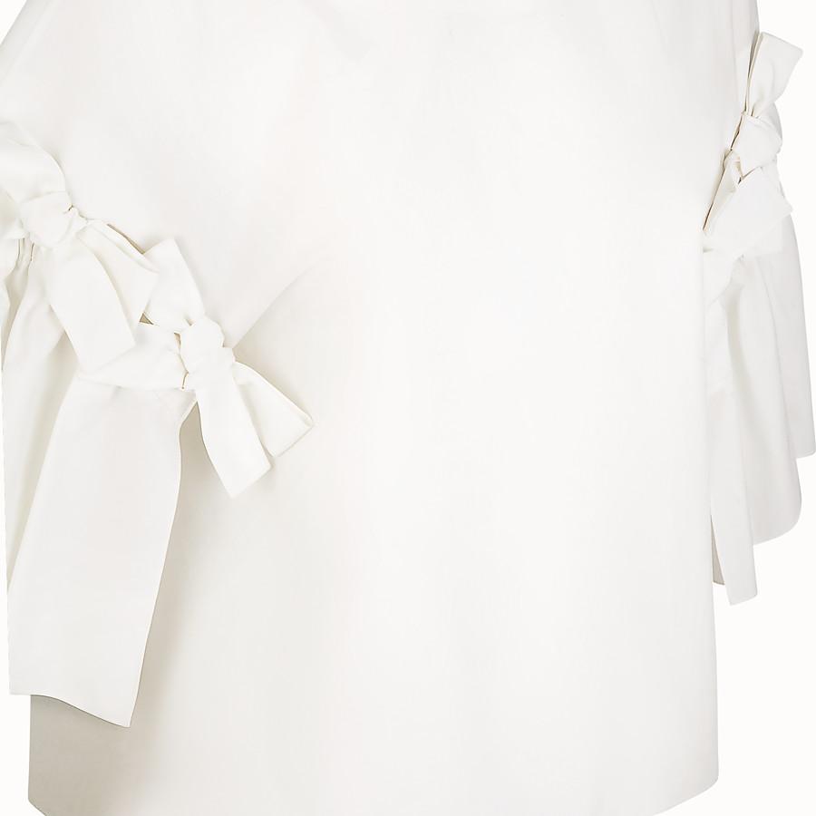 FENDI BLOUSE - White cotton blouse - view 3 detail