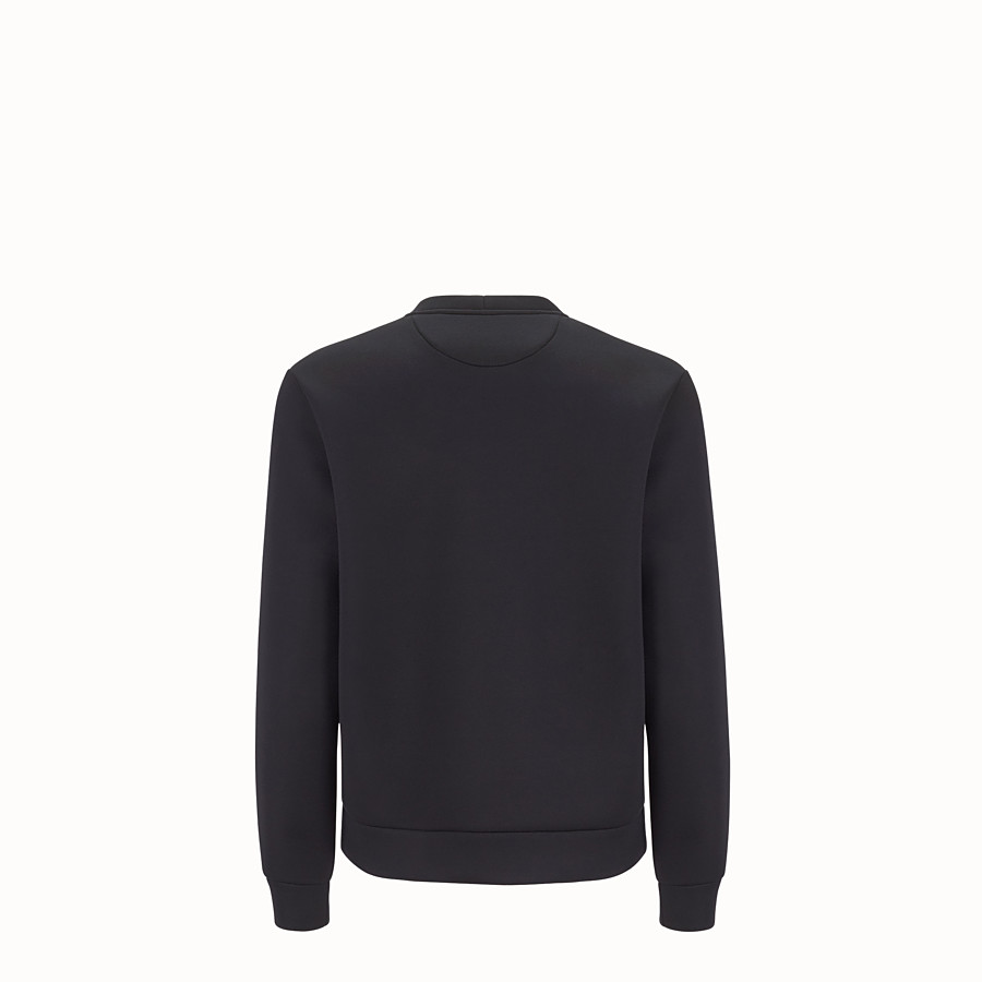 FENDI SWEATSHIRT - Black cotton jersey pullover - view 2 detail
