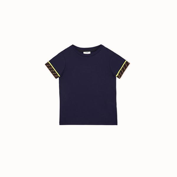 FENDI T-SHIRT - Blue cotton T-Shirt - view 1 small thumbnail