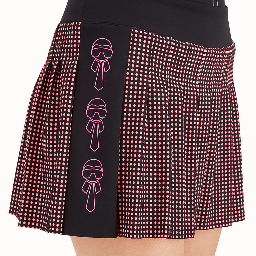 FENDI SKIRT - Black and pink tech fabric skirt - view 4 detail