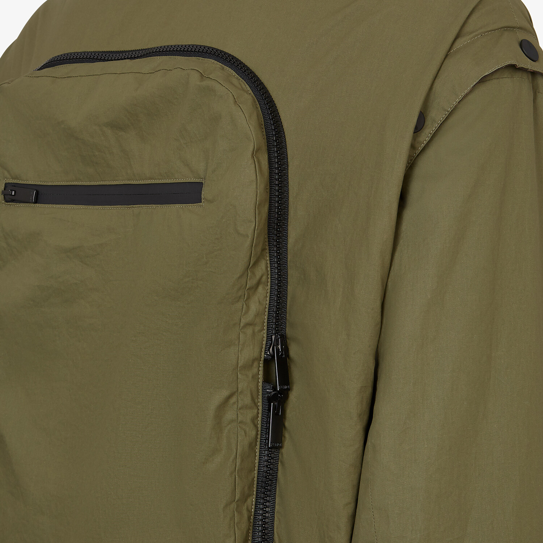 FENDI WINDBREAKER - Multicolor nylon jacket - view 3 detail