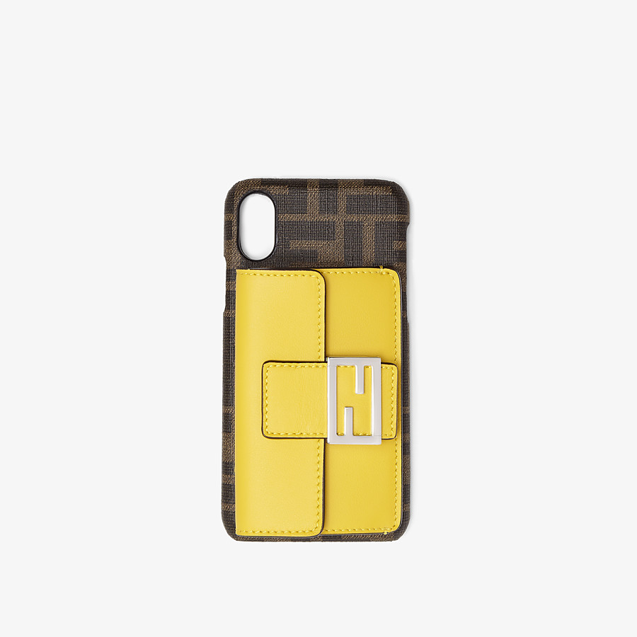 FENDI iPHONE X COVER - Cover in Braun - view 1 detail