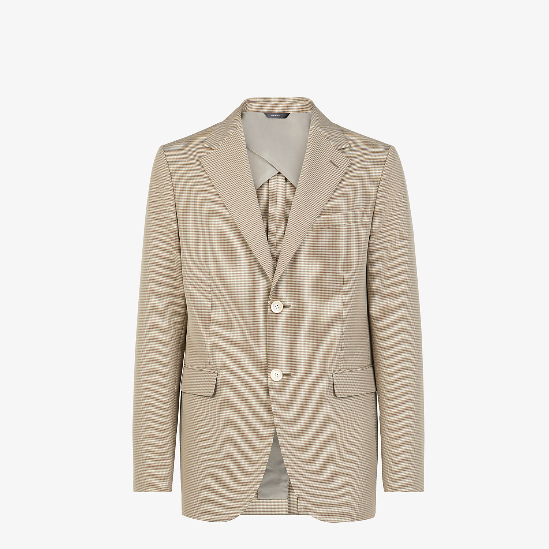 FENDI JACKET - Beige cotton blazer - view 1 detail