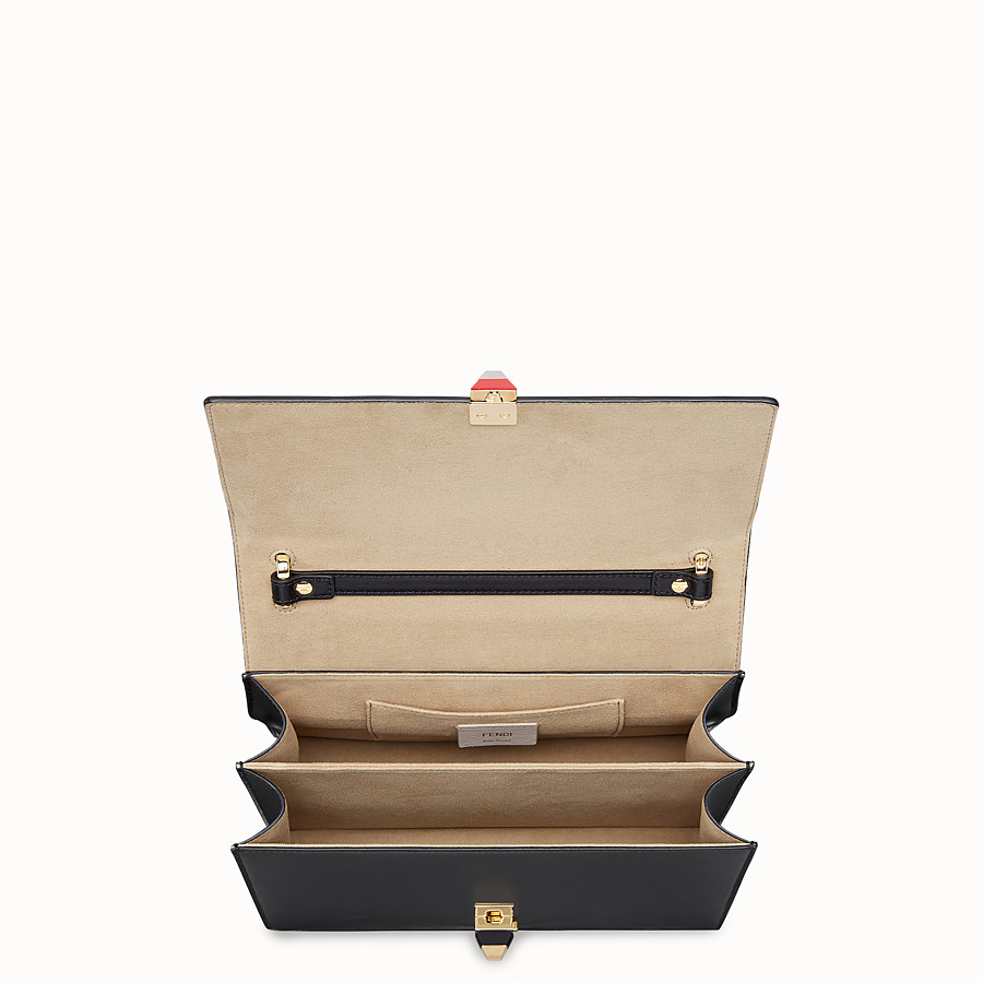 FENDI KAN I - Black leather bag - view 4 detail