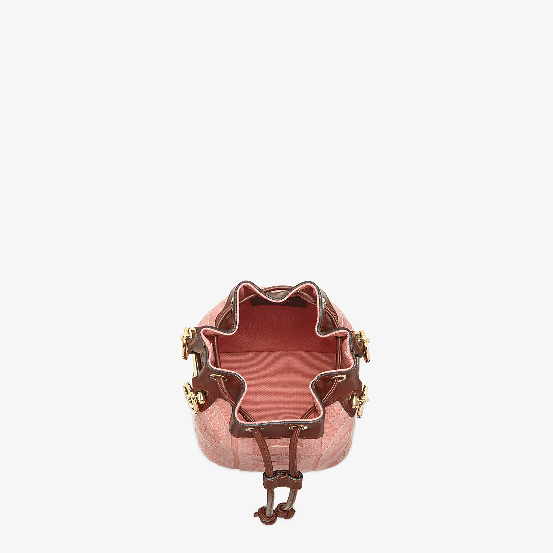FENDI MON TRESOR - Pink canvas mini-bag - view 4 detail