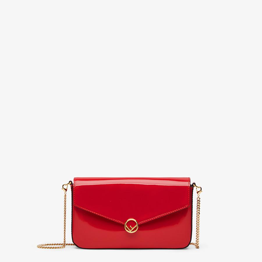 FENDI WALLET ON CHAIN MIT POUCHES - Mini-Tasche aus Lackleder in Rot - view 1 detail