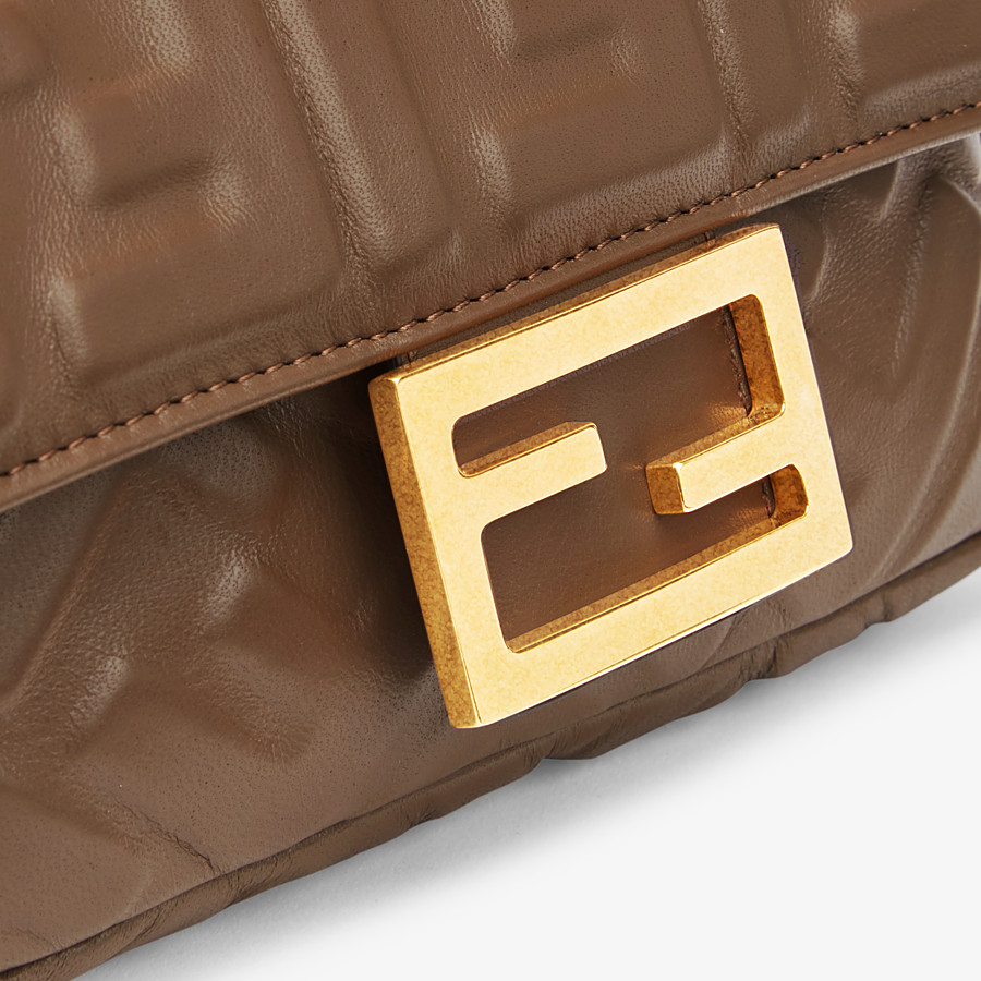 FENDI BAGUETTE - Brown nappa leather bag - view 5 detail