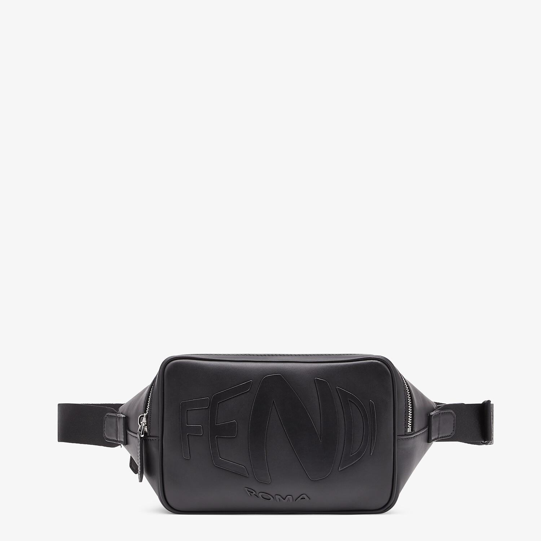 FENDI BELT BAG - Black leather belt bag - view 1 detail