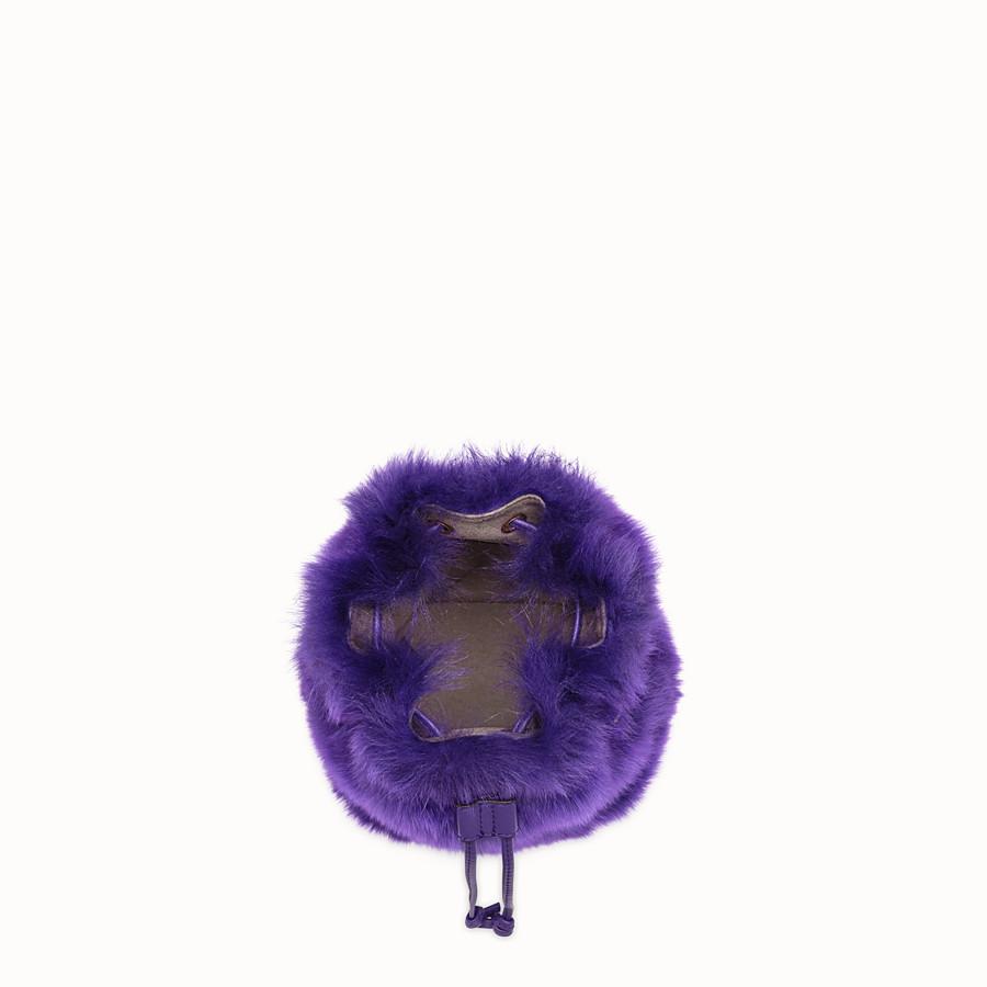 FENDI MON TRESOR - Purple sheepskin mini-bag - view 4 detail