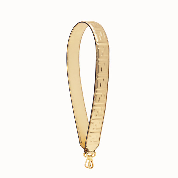 FENDI STRAP YOU - Golden leather shoulder strap - view 1 small thumbnail