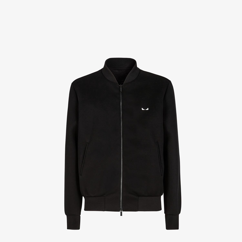 FENDI BOMBER JACKET - Black neoprene jacket - view 1 detail