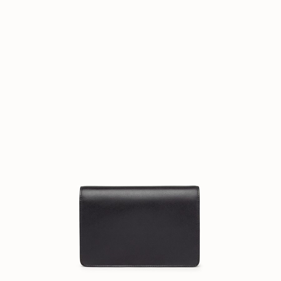 FENDI WALLET ON CHAIN - Black leather minibag - view 3 detail