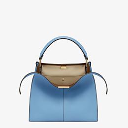 FENDI PEEKABOO X-LITE MEDIUM - Tasche aus Leder in Blau - view 1 thumbnail