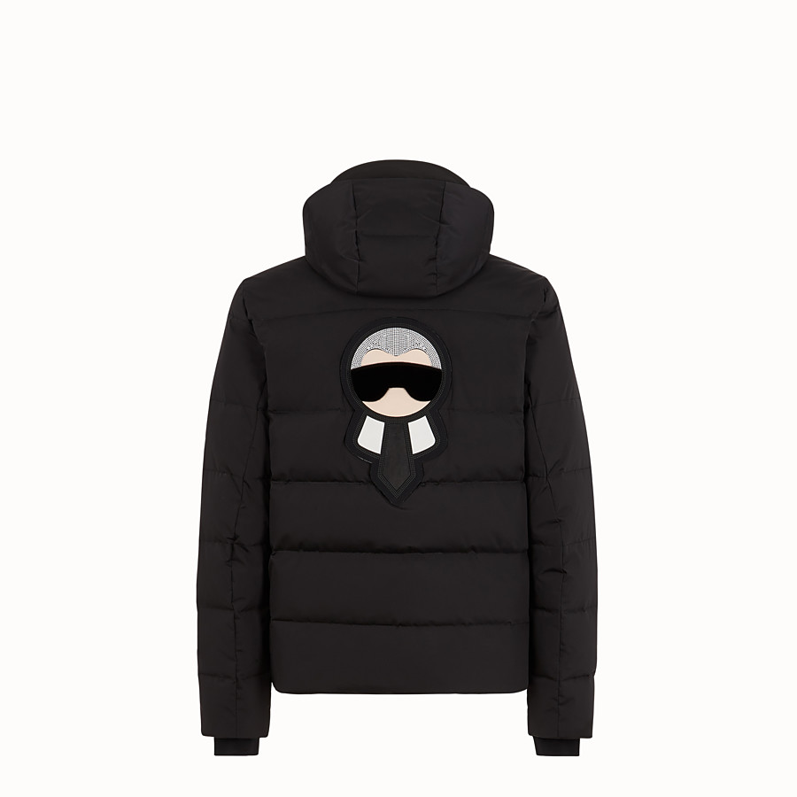 FENDI SKI JACKET - Black nylon down jacket - view 2 detail