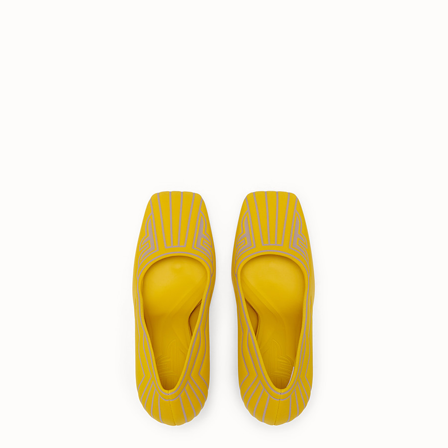 FENDI COURT SHOES - Court shoes in yellow fabric - view 4 detail