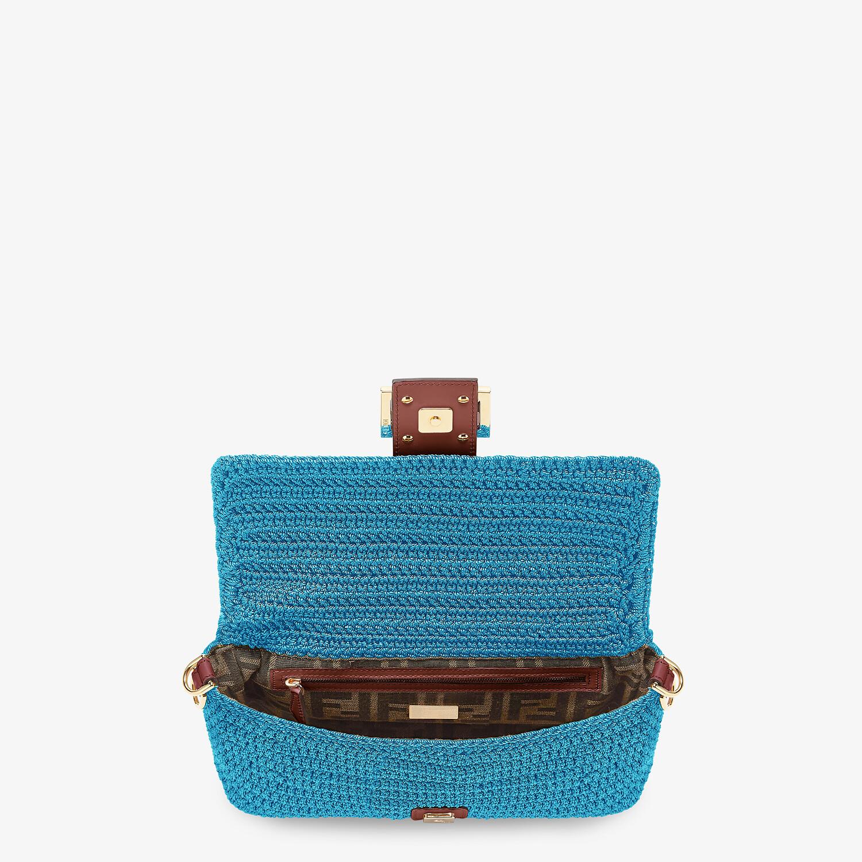 FENDI BAGUETTE - Blue cotton crochet bag - view 4 detail