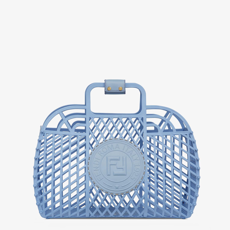 FENDI FENDI BASKET MEDIUM - Light blue recycled plastic mini-bag - view 1 detail