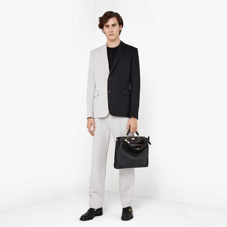 FENDI TROUSERS - White wool trousers - view 4 detail