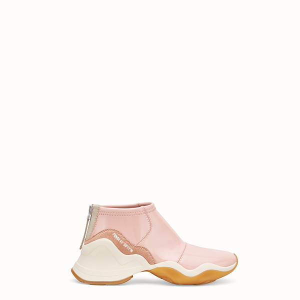 FENDI SNEAKERS - Glossy pink neoprene sneakers - view 1 small thumbnail