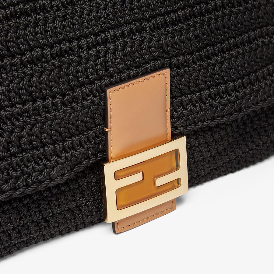 FENDI BAGUETTE - Black cotton crochet bag - view 5 detail