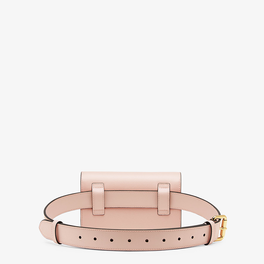 FENDI BELT BAG - Pink leather belt bag - view 3 detail