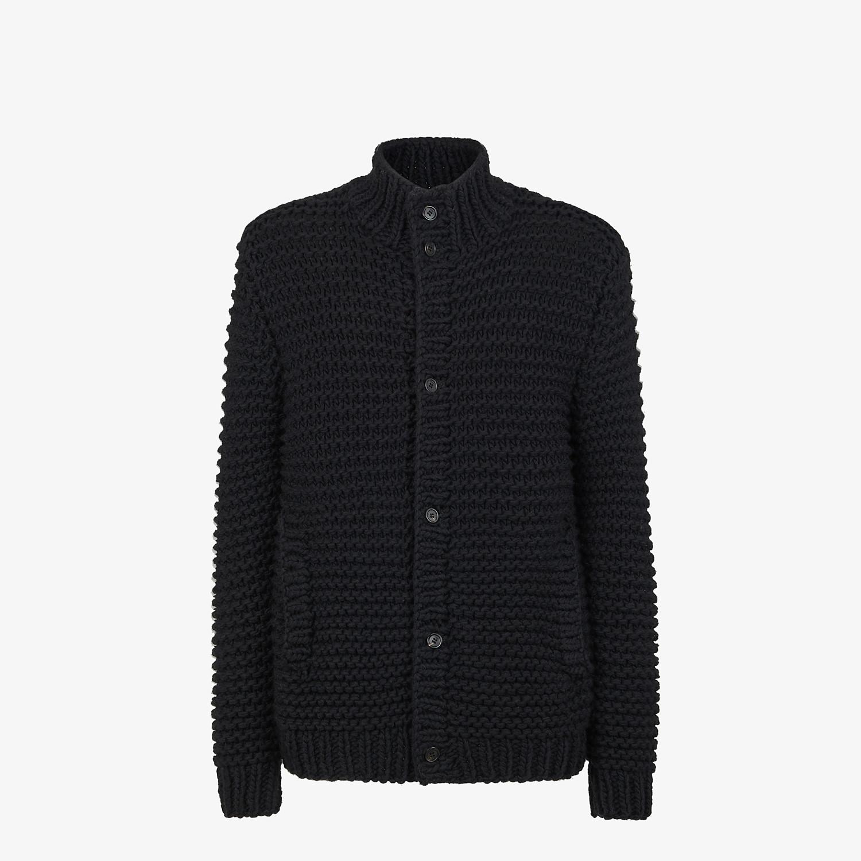 FENDI CARDIGAN - Black wool cardigan - view 1 detail