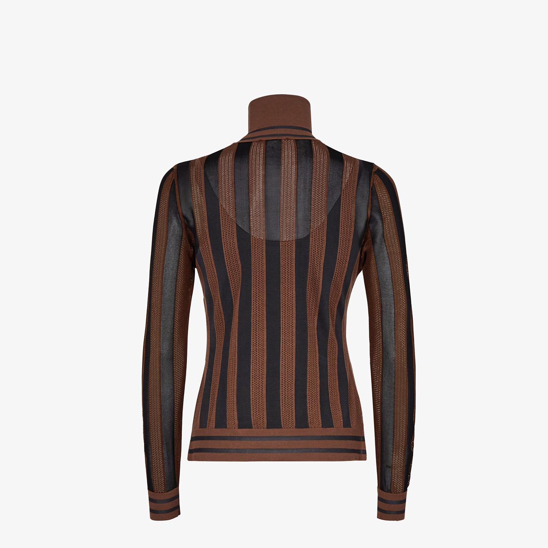 FENDI SWEATER - Multicolor silk sweater - view 2 detail