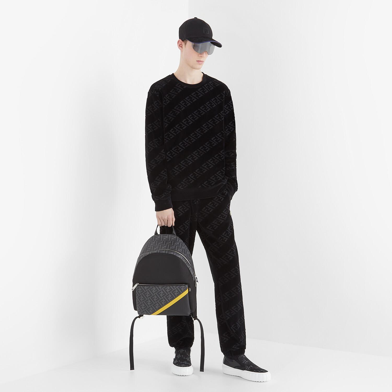 FENDI SWEATSHIRT - Black velvet sweatshirt - view 4 detail