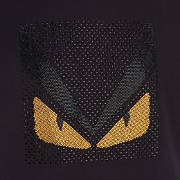 FENDI T-SHIRT - Black cotton t-shirt - view 3 thumbnail
