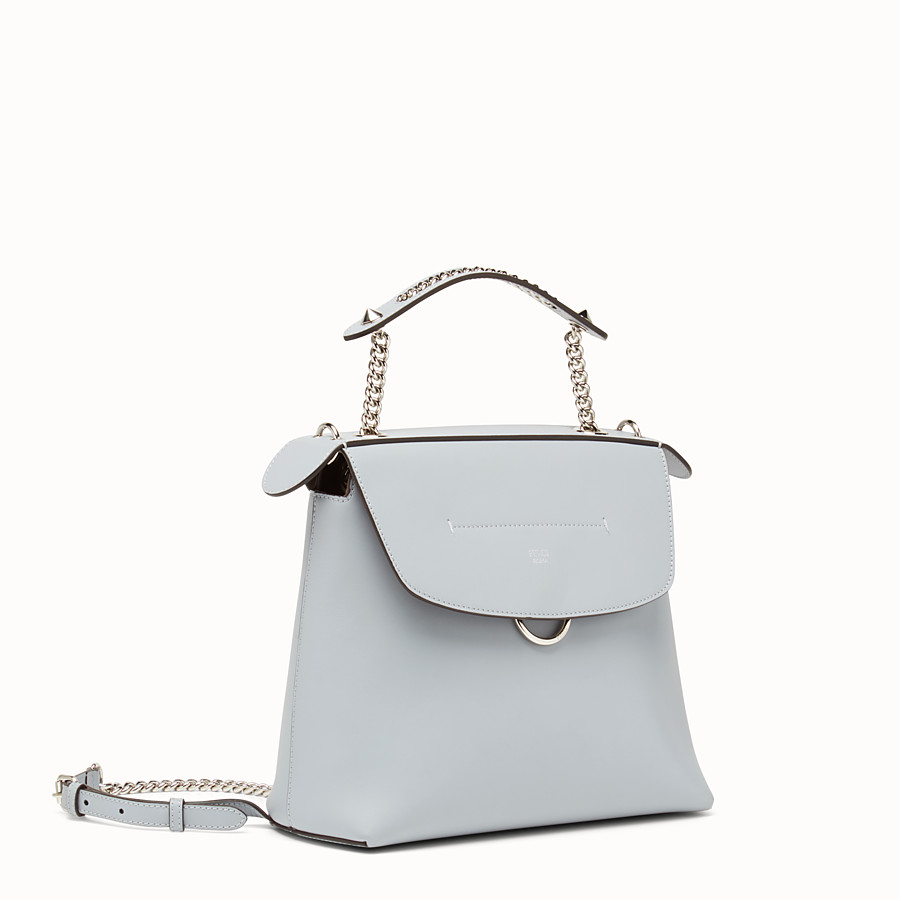 FENDI BACK TO SCHOOL BACKPACK - Smooth light blue leather backpack - view 2 detail