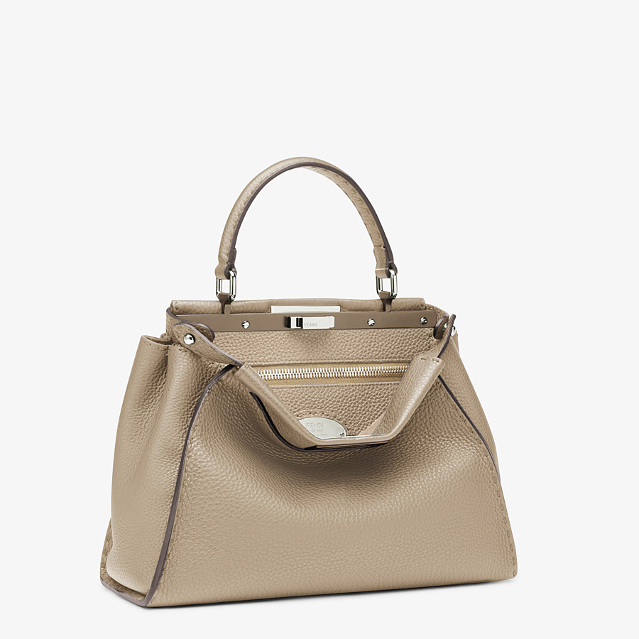 FENDI PEEKABOO ICONIC MEDIUM - Beige Selleria handbag - view 3 detail
