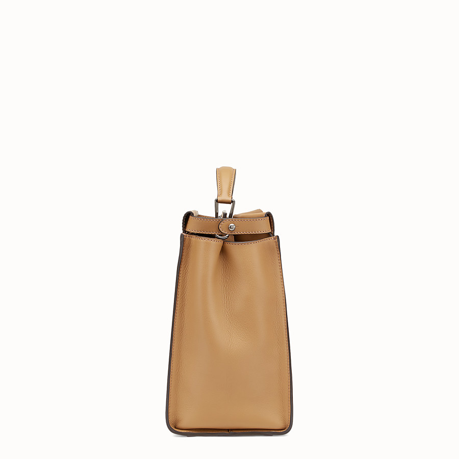 FENDI PEEKABOO - Sand-coloured leather bag - view 2 detail