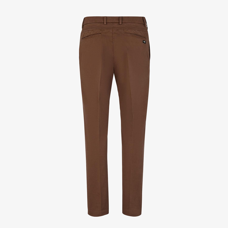 FENDI PANTS - Brown cotton pants - view 2 detail