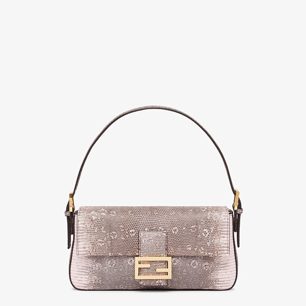 Pink lizard leather Re-Edition bag