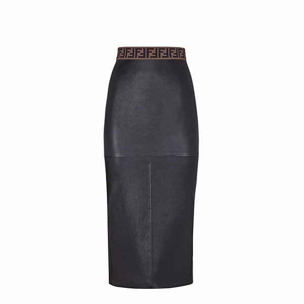 FENDI SKIRT - Black leather skirt - view 1 small thumbnail